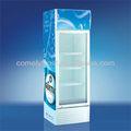 En posición vertical 320l transparente sola puerta de coque sc-320 nevera