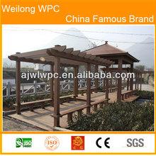 park decoration wpc waterproof durable pergola