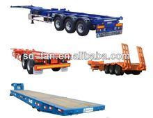China amplamente utilizado em massa de cimento semi-reboque