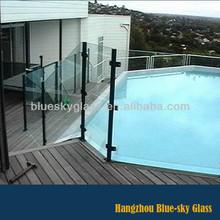 10mm 12mm Australian standard swimming pool fence glass