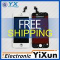 Envío libre Alibaba de China pantalla del teléfono móvil lcd, Alta calidad para el iphone 5S lcd montaje de la pantalla