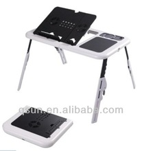 Best popular E Table Portable laptop computer desk with two fans