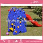 Elephant Playground Equipment with Wave Slide and Basket Plastic Indoor Slide