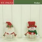5inch Christmas Santa and Snowman doll candy jar
