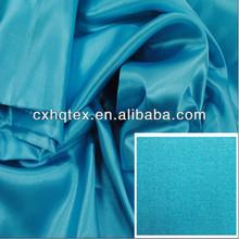 Zhejiang 100% polyester woven dress high quality plain dyed satin fabric