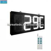 New products china Wholesaler super bright outdoor 4 digits led digital clock