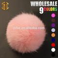 2015 lindo sombrero de venta al por mayor de accesorios originales de conejo 6-11cm natural o de colores pom pom de piel pelota