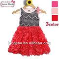 الصين مورد اقتصادي 100% طفلة اللباس الصيف القطن للاطفالموضة منتفخ فساتين صور الملاك