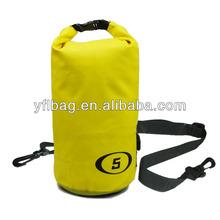 5L waterproof black dry tube beach pack bag outdoor