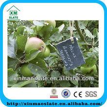 [factory direct] 5X4 Cut Edge Set Of 4 Hanging Rectangle Shape Slate Plant Label Item ZWBQ-0504RG1A