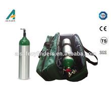 bombola di ossigeno portatile alluminio medico bombola di ossigeno portatile