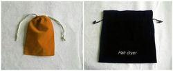 high quality velvet bags/clear wine cooler plastic bag