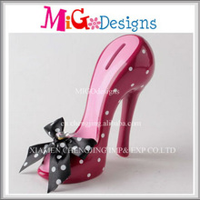 New Popular Sexy Purple Money Box Women High Heel Shoes With Dots And Bowknot