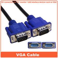 wholesale 2014 hot selling 15 pin VGA 3m M/M 3+6 HD LCD display hdmi vga tv cable
