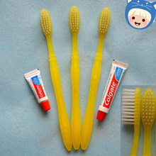 ps handle with nylon bristle hotel disposable dental kit toothbrush with toothpaste