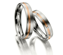 Pretty stainless steel engagement couple rings for sale Ali express made in China
