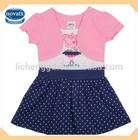 (H4371) 18M-6Y Nova hot selling kids pink dresses wholesale peppa pig princess dress girls cotton frock