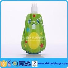 BPA free Animal Shape Drinking Water Bag with Push-pull Top