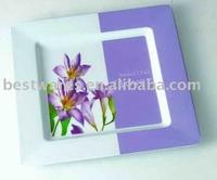 Charming design flower decal melamine square beverage tray