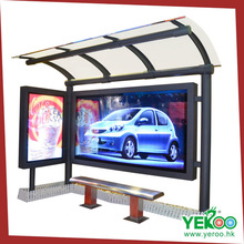 Bench/ Chair Available New-Style Sidewalk Advertising Bus Shelter/Station/Stop