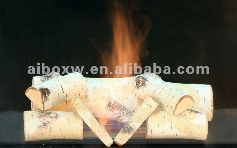 Ceramic gas logs
