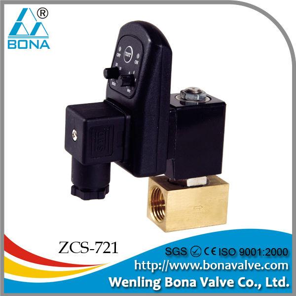temporizador de purga automática solenoide de la válvula del compresor de aire normalmente cerrado