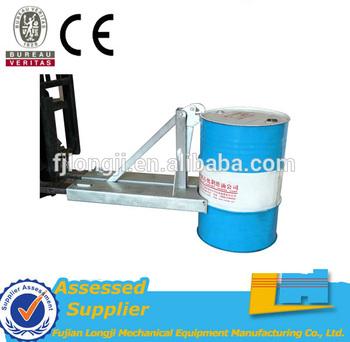 Economical forklift attachment mechanical manual drum lifter