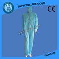 de uso general no tejidos desechables bata con capucha