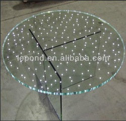 round LED glass for table top