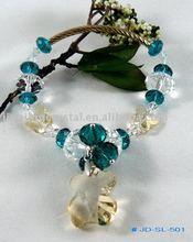 Cute Tiny Bear Pendants Crystal Bracelet