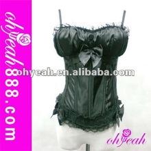 2015 Wholesale women sexy black corset garter