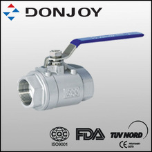 Two-pieces female ball valve