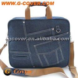 "PU & Jean 15"" Laptop bag, laptop computer case"