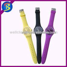 Hot Sale unisex Fashion colorful promotional jelly cheap slap wrist watch