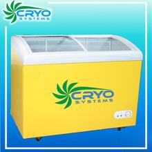 200L hard italian gelato batch cabinet case chiller refrigerator cooler ice cream display freezer