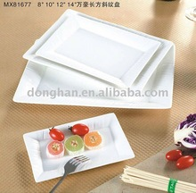 China manufacturer wholesale price rectangle porcelain eco dinner plate
