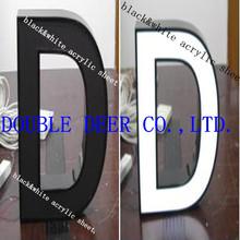 2014 hot sale black and white acrylic sheet plexiglass