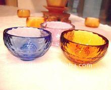great printing handcraft fancy crystal bowl