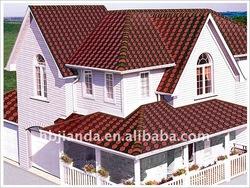 Jianda brand colored asphalt Shingles and asphalt roofing tiles