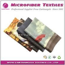colorful pattern printing microfiber eyeglasses lens cleaning cloth