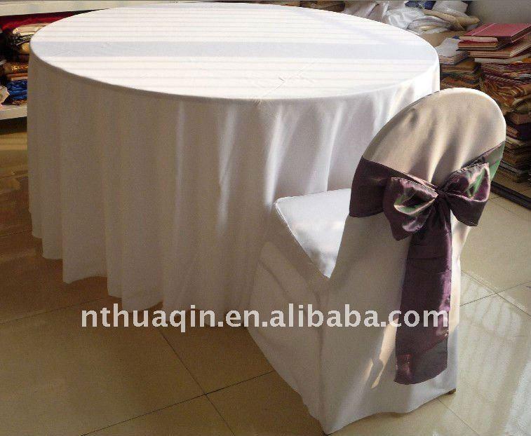 100 polyester nappe pour banquet de mariage 100 for Nappe pour grande table