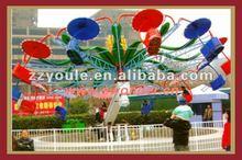 Attractive! Amusement park rides double chair swing