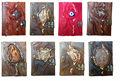 Hecho a mano varios diseños revista- % 100 nueva cuero genuino real- alta calidad- notebook-- diario cuaderno de dibujo