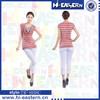 2015 Fashion Simulation II strip design cowl neckline sexy slim fit woman blouse