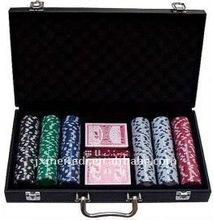 Black 300pcs aluminum abs poker chip case