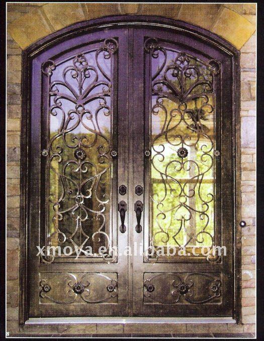 ingresso in ferro battuto porta inserti in vetro-Porta-Id prodotto ...