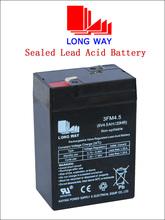 6V Rechargeable Storage Emergency Lighting lead acid Battery