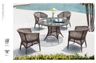 Chester costco products Outdoor Rattan round Dining table and chairs Garden/patio Furniture