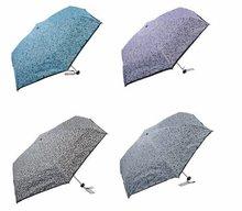Fashionable Sale Lady Full Print 5 Folding Up Super Mini Slim and Light Umbrellas