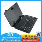 "7"" tablet keyboard case, Plastic USB keyboard + leather case for tablet"